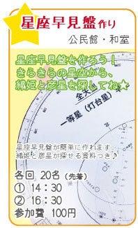 志賀野ブログ-七夕フェスタ星図盤作り
