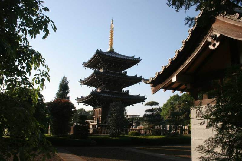 喜多見屋敷/慶元寺三重の塔