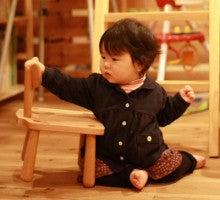 $お名前入で出産祝にも喜ばれる、手作り木製子供家具  mokushido-kids-キッズチェア購入者からの写真