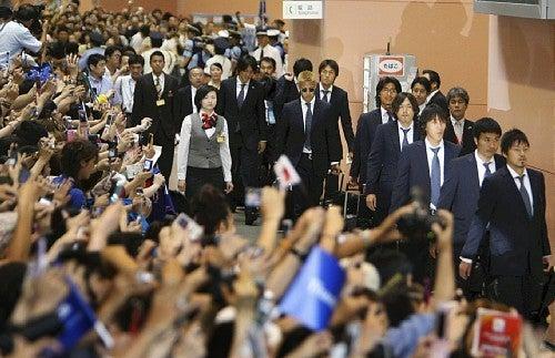 サッカー日本代表 帰国 南アフリカワールドカップ