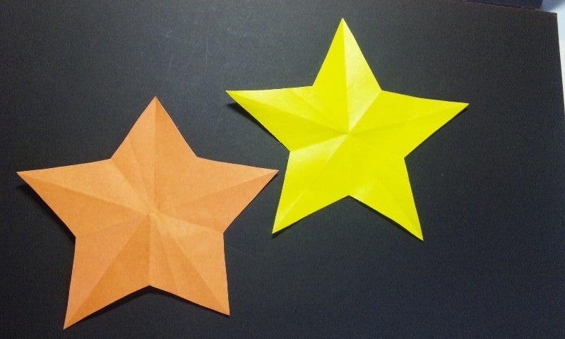 すべての折り紙 折り紙 飾り 星 : 簡単工作☆折り紙で作る星の ...