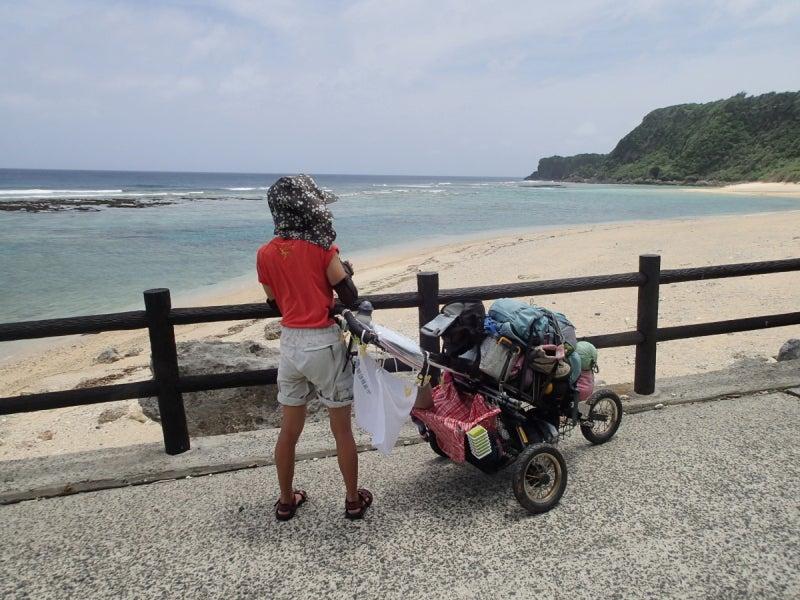 歩き人ふみの徒歩世界旅行 日本・台湾編-沖泊ビーチ