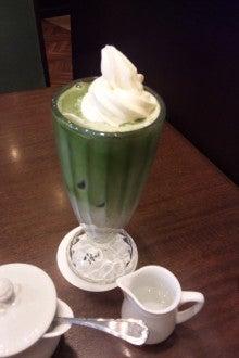 ちい庭日記-抹茶フロート