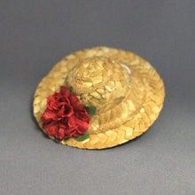 モルモットの麦わら帽子(レッドフラワー)