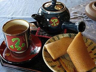 晴れのち曇り時々Ameブロ-さんぴん茶とクレープのセット