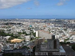 晴れのち曇り時々Ameブロ-首里城公園から眺める那覇市街地