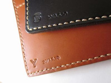 OXIO-CRAFT(オキクラ)の「革雑貨」制作日記-ペアパスポートケース