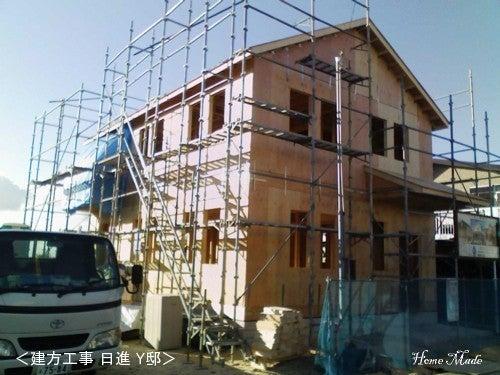 $住まいと環境~手づくり輸入住宅のホームメイド-2x4の建方工事 Y邸