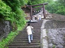 夫婦世界旅行-妻編-奥社への階段