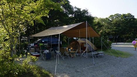 ワンコを連れて!子供と一緒にキャンプに行こう!-2013.8.15猪苗代湖モビレージ7