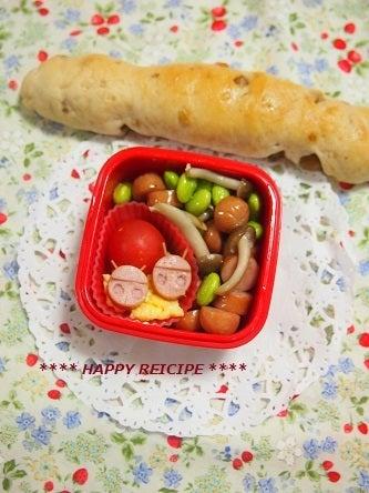 羊さんのハッピーレシピ     豆菜ごはんとパン・おやつ。-ウインナーのてんとう虫