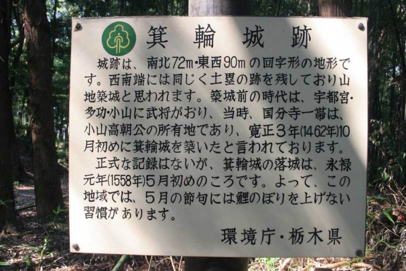 箕輪城/説明板
