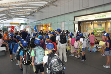 浄土宗災害復興福島事務所のブログ-20130726ふくスマいわき駅出発の挨拶