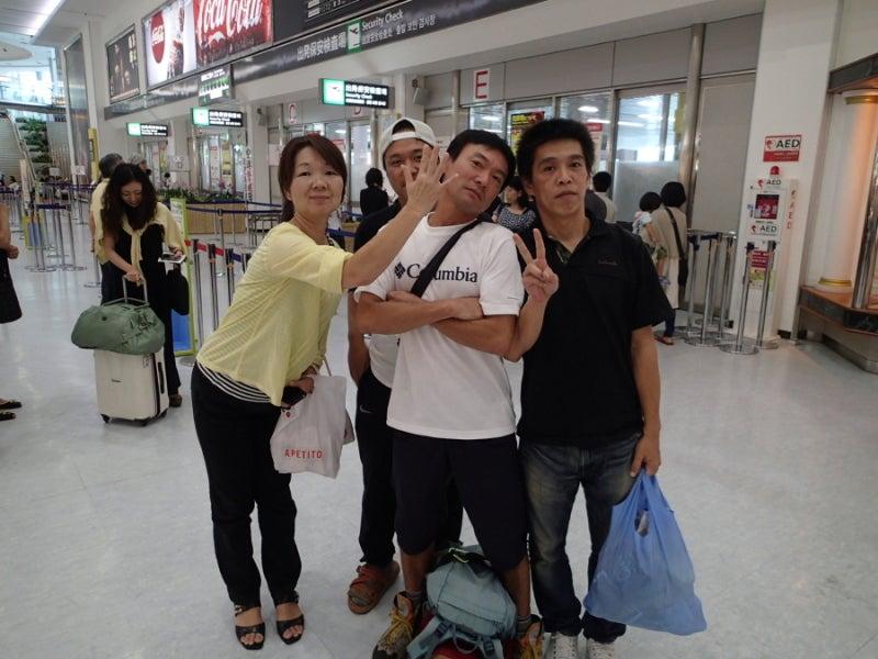 $歩き人ふみの徒歩世界旅行 日本・台湾編-空港にて
