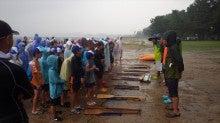 浄土宗災害復興福島事務所のブログ-20130729ふくスマいかだ作り説明