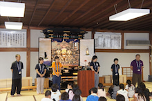 浄土宗災害復興福島事務所のブログ-20130728ふくスマおてつぎ解団式指導員挨拶