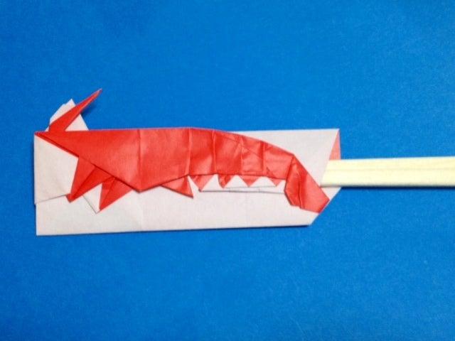 エビの箸袋 折り紙で箸袋 ...