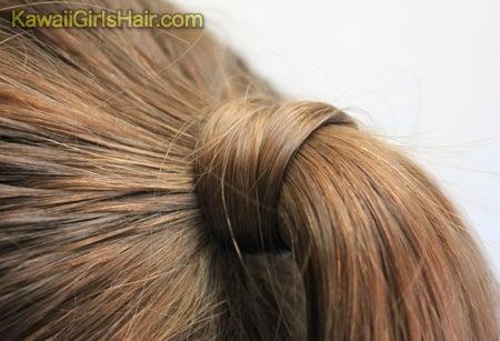 髪の毛を結んだゴムを 髪の毛で隠す方法 2 かんたん かわいい 女の子のヘアスタイル