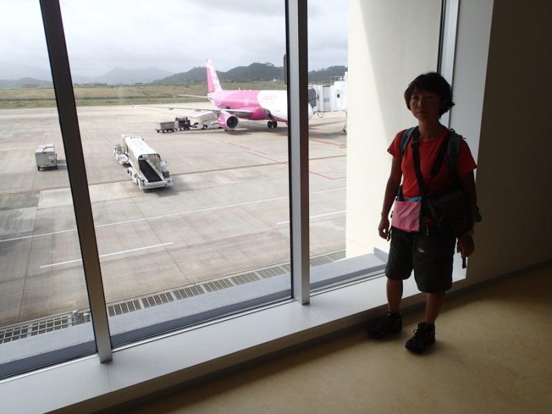 歩き人ふみの徒歩世界旅行 日本・台湾編-石垣新空港着