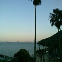 能古島から観た「中秋…