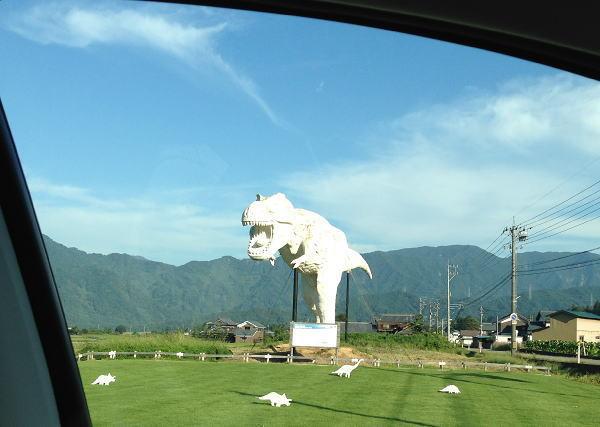 勝山市の恐竜模型