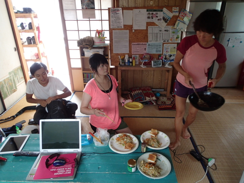 歩き人ふみの徒歩世界旅行 日本・台湾編-昼食
