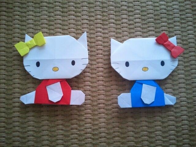 クリスマス 折り紙 キティ 折り紙 折り方 : ameblo.jp