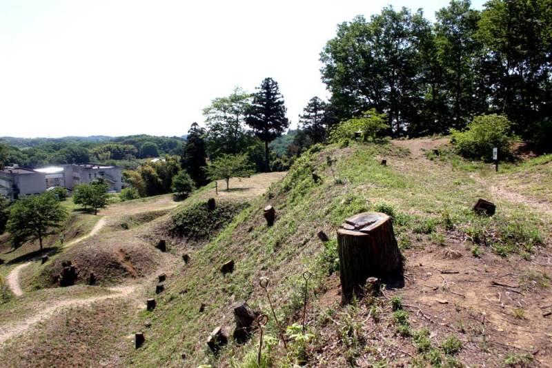 杉山城/本丸から東側の眺め