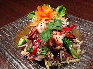 タイ料理レストラン トゥンテン 今月のお勧め!-海老とオクラ