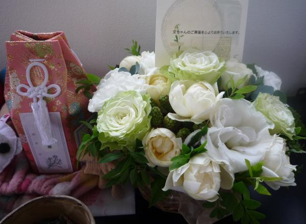 フェレットと、バラのあるベランダと…