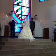 結婚式・・・
