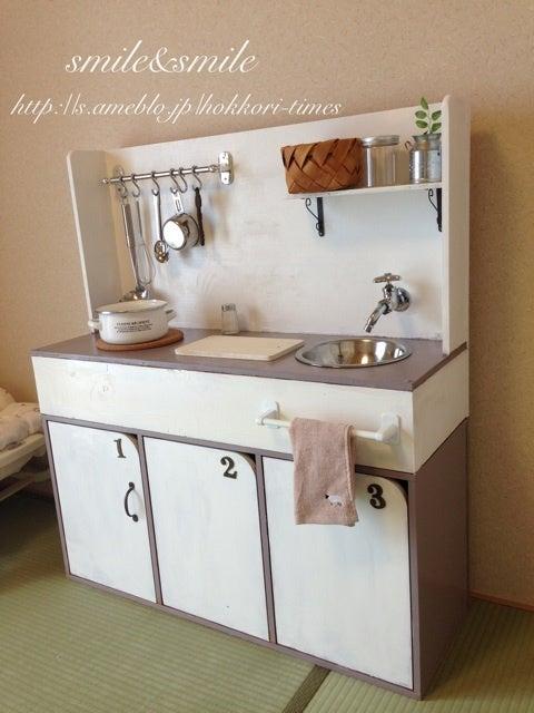 キッチン ままごとキッチン カラーボックス : おままごとキッチンに変身 ...
