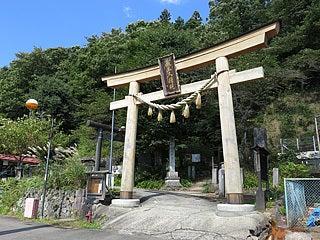 晴れのち曇り時々Ameブロ-蔵王刈田領神社の鳥居