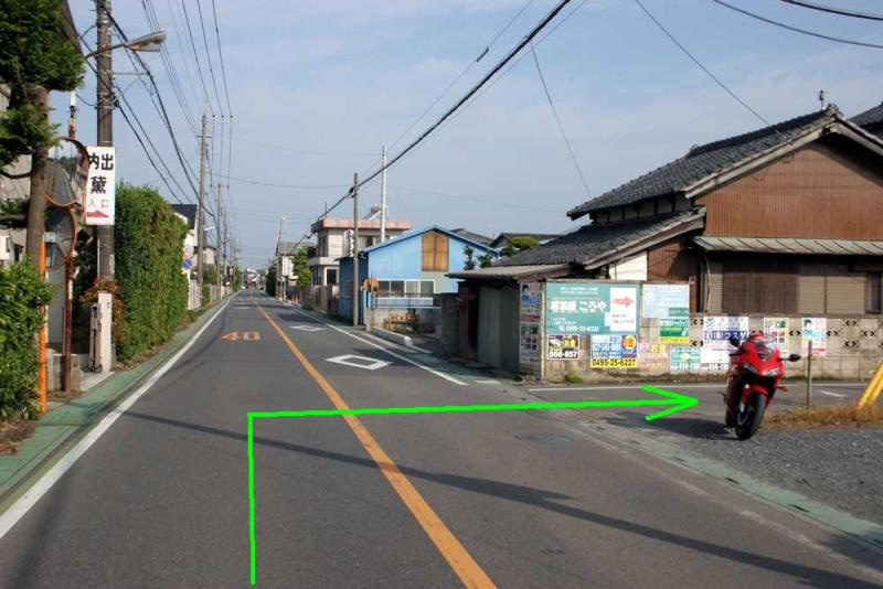 金窪城/城への道(東から)