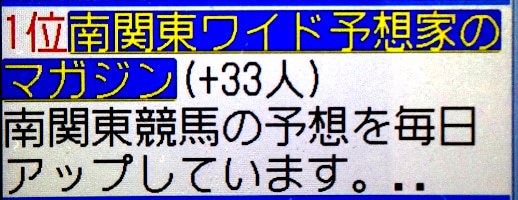 $南関東競馬ワイド予想家のブログ