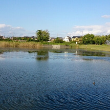 徒歩2分の池でバス釣…