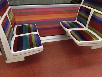 地下鉄座席シート