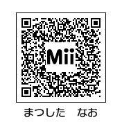 トモダチコレクション (トモコレ) 芸能人 Mii ~作り方(作成画像)~-松下奈緒qr