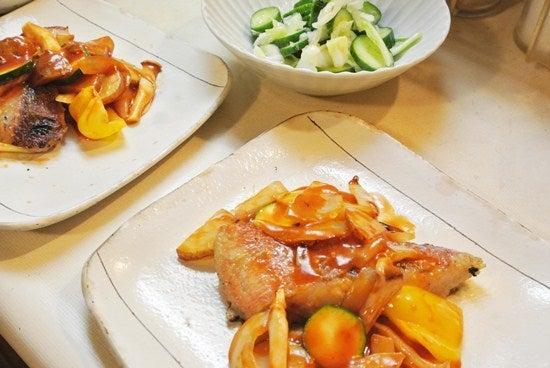 赤魚ソテーと野菜の和え物