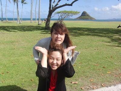 ルナシャイン・輝☆ブログ-朋ちゃんとハワイにて