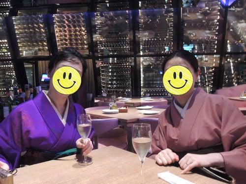 $東京で着物ライフを楽しむ会 ~東京きものライフ~-夜景のように見えるお店でお食事