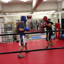 ボクシングのスパーリ…