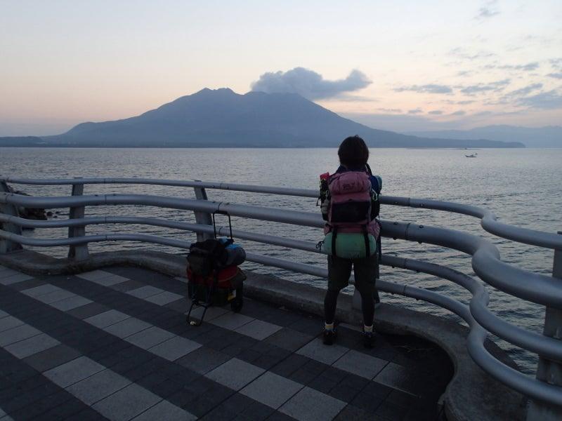歩き人ふみの徒歩世界旅行 日本・台湾編-桜島