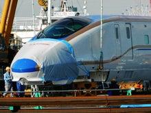 ヘッドマーク・鉄道デザイン博物館 -E7系先頭車両