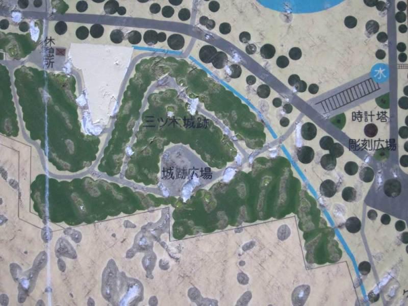 三ツ木城/①公園の案内図