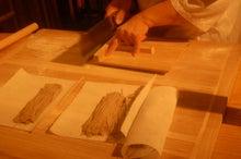和洋折衷 割烹やまのブログ 大阪上本町ミナミで完全個室で接待、顔合わせ、記念日は割烹やまで-蕎麦打ち