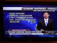 ハワイ、いつ行こうかな?-TSUNAMI