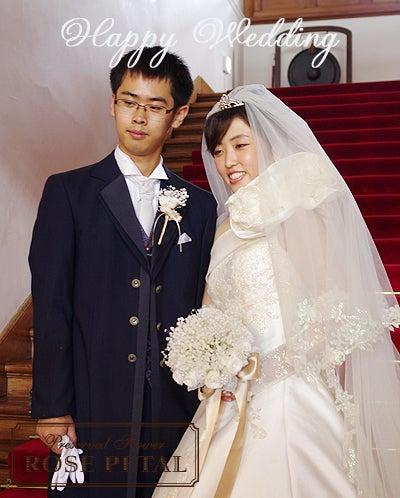 幸せ結婚準備☆ウエディングブーケブログ 花嫁さまの願いを叶える極上プリザーブドブーケ♪-かすみ草 ウエディングブーケ