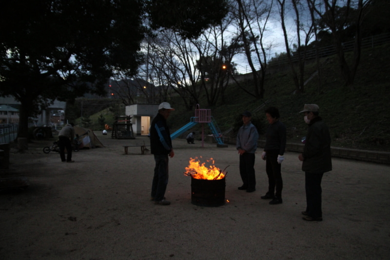 歩き人ふみの徒歩世界旅行 日本・台湾編-焚き火