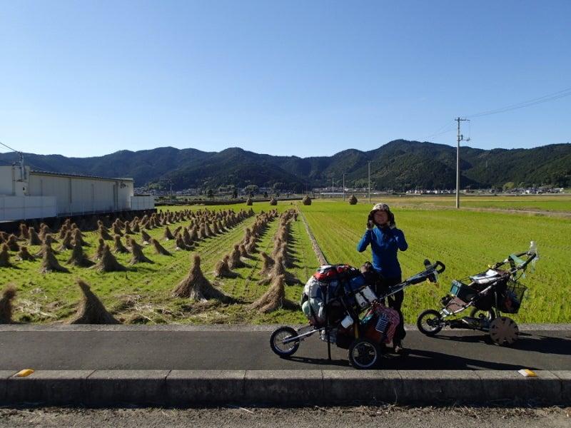 歩き人ふみの徒歩世界旅行 日本・台湾編-田んぼ2